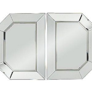 2-Piece Beveled Glass Mirror Sections